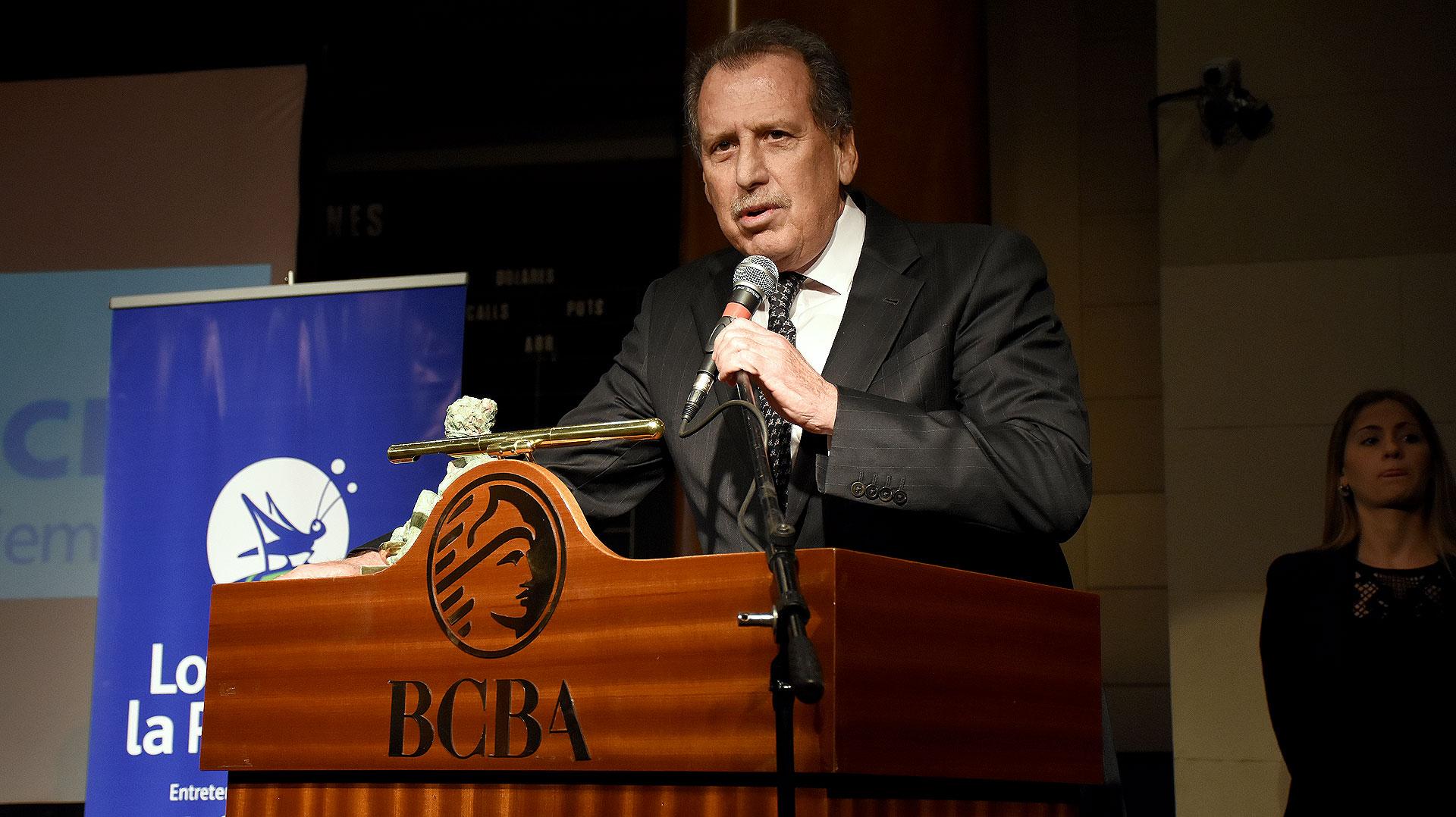 El empresario recibió una distinción en la entrega de los Premios Fortuna, cuya ceremonia se llevó a cabo en la Bolsa de Comercio de Buenos Aires (Nicolás Stulberg)