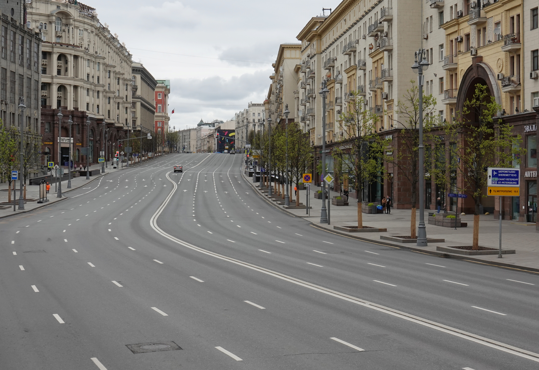 El centro de Moscú, durante el confinamiento (REUTERS/Tatyana Makeyeva)