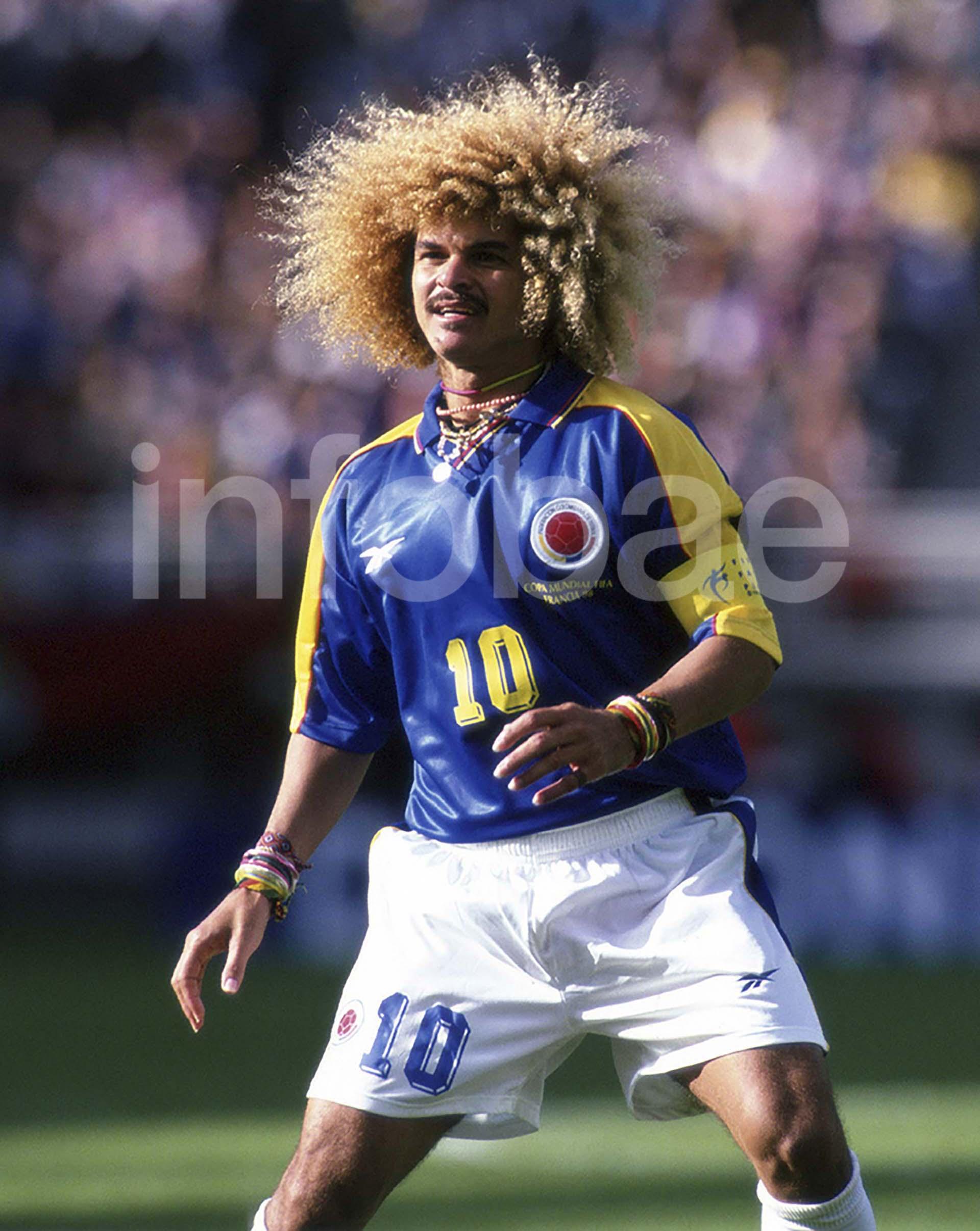 Carlos Valderrama, la gran figura de Colombia en el Mundial de Francia 1998