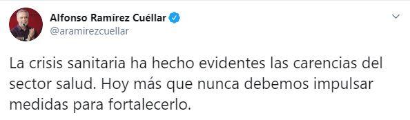 El líder de Morena se pronunció en contra del tabaquismo (Foto: Twitter / @aramirezcuellar)