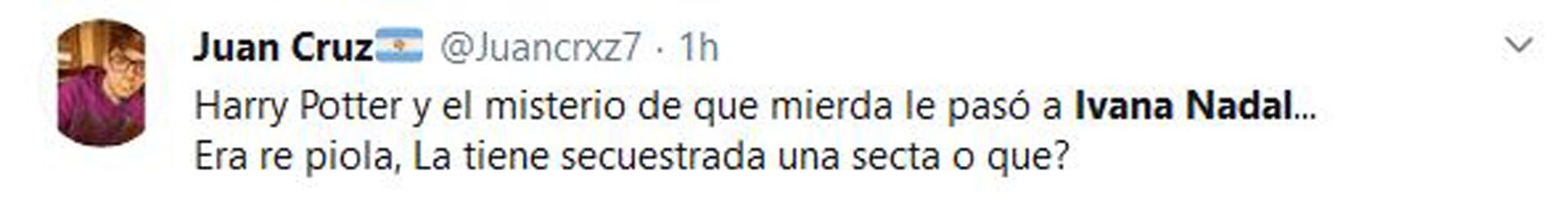 Algunas de las críticas que recibió Ivana Nadal tras su video (Fotos: Twitter)