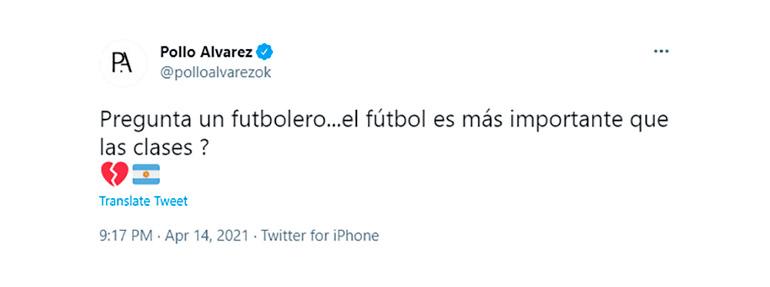 La pregunta del Pollo Álvarez ante la decisión tomada por Alberto Fernández