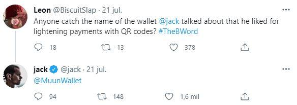 Tras la charla #TheBword Jack Dorsey recibió consultas respecto a cuál era la billetera cripto que había mencionado