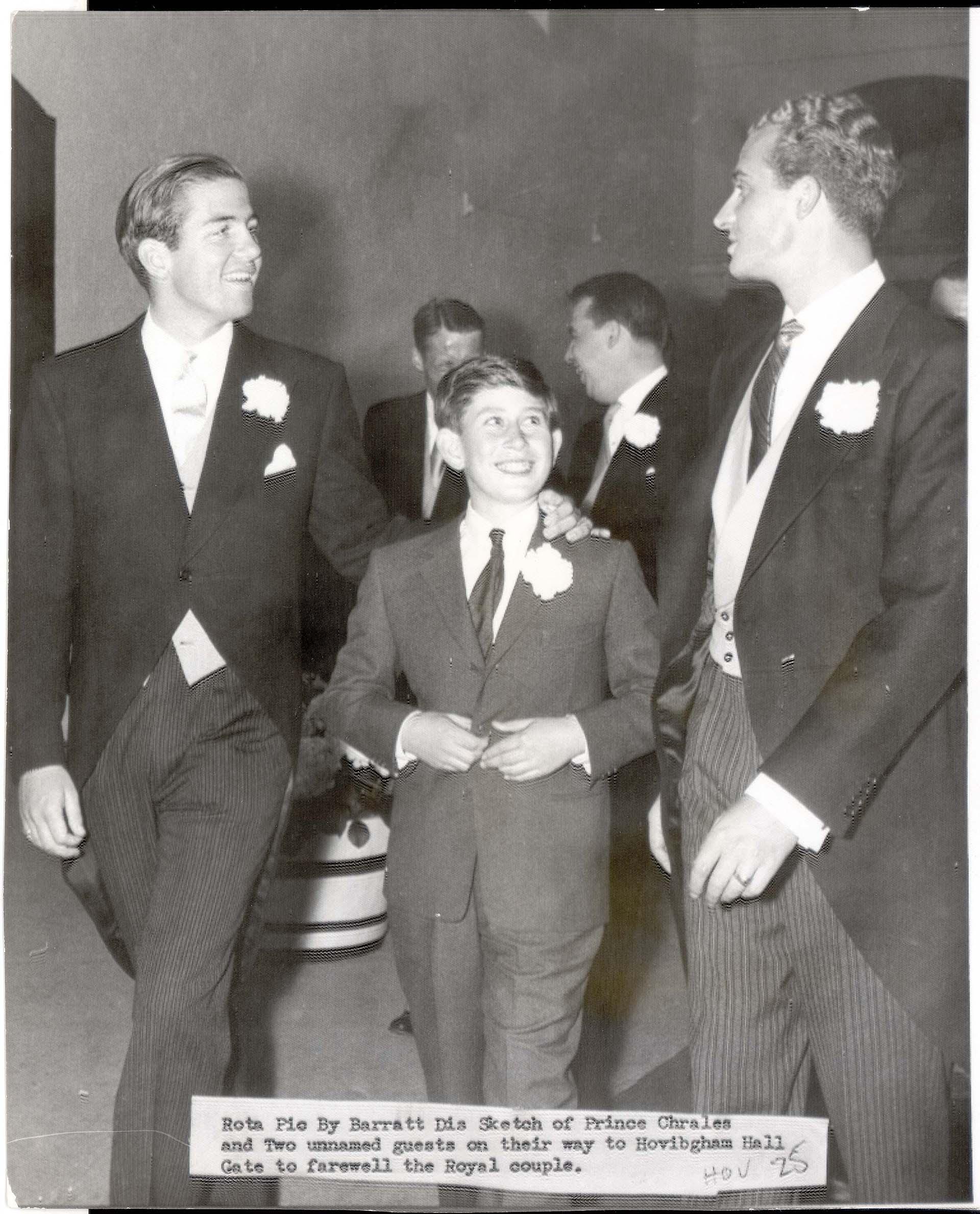 El rey Juan Carlos durante el casamiento del Duque de Kent con Katherine Worsley, en agosto de 1961 (Shutterstock)