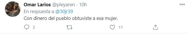Decenas de usuarios criticaron la publicación y volvieron a reprochar al hijo mayor de AMLO el estilo de vida ostentoso que llevan él y su esposa (Foto: Twitter)