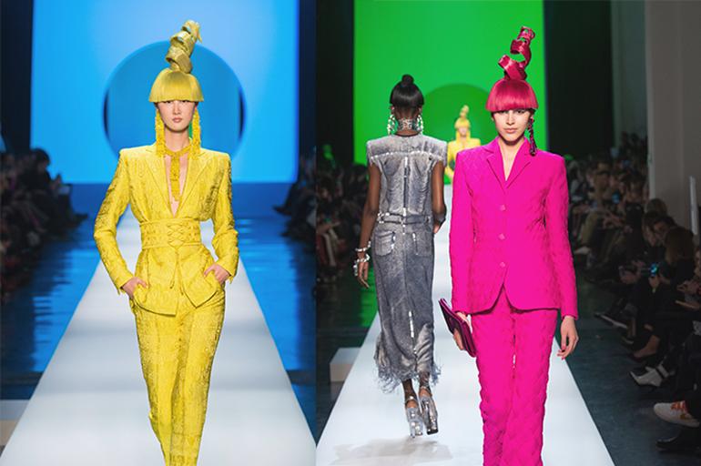 En 2018, el diseñador Jean Paul Gaultier hizo en la semana de la moda en París todo su desfile en homenaje a su gran maestro Pierre Cardin. Diseños futuristas y colores vibrantes