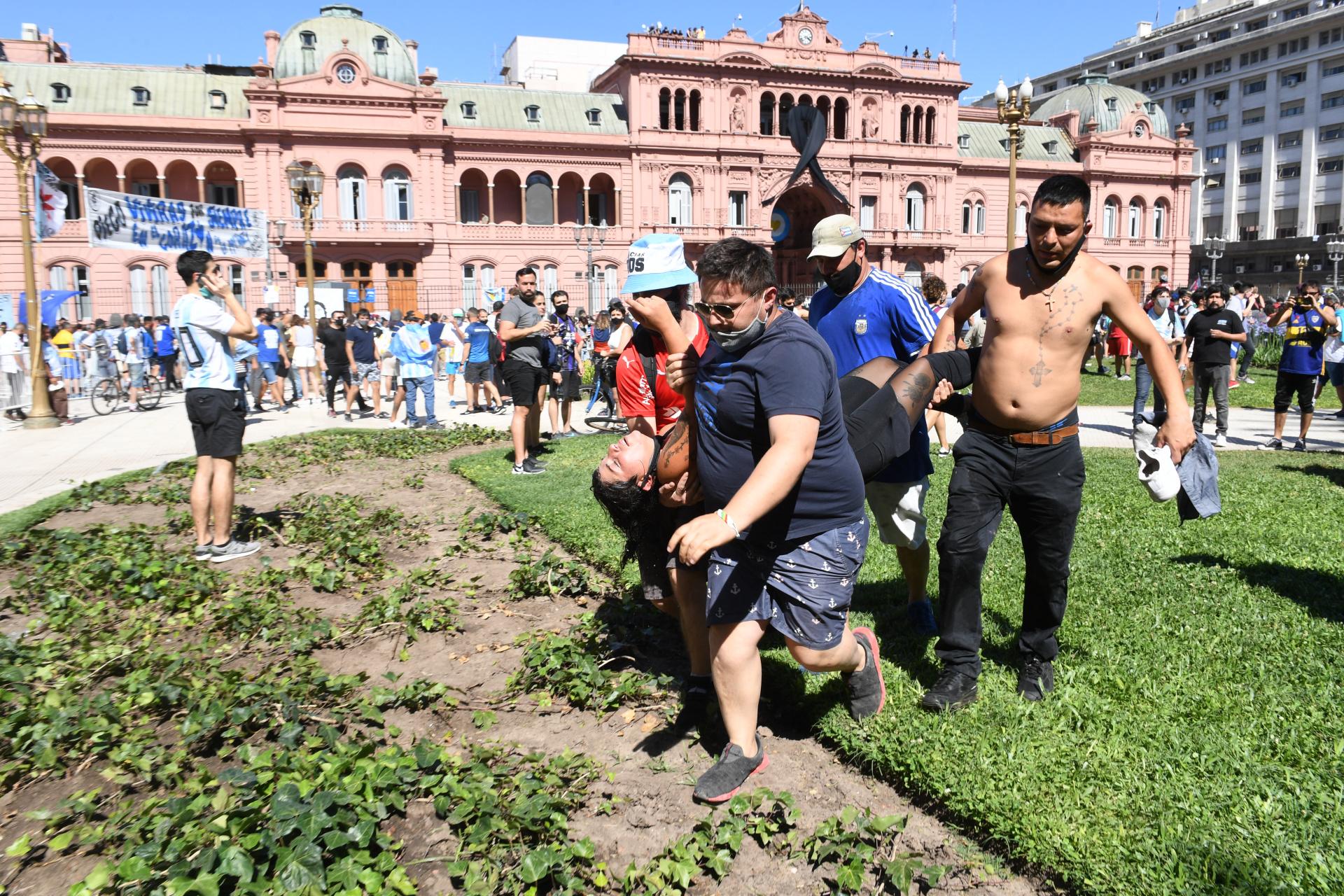 Corridas en Plaza de mayo