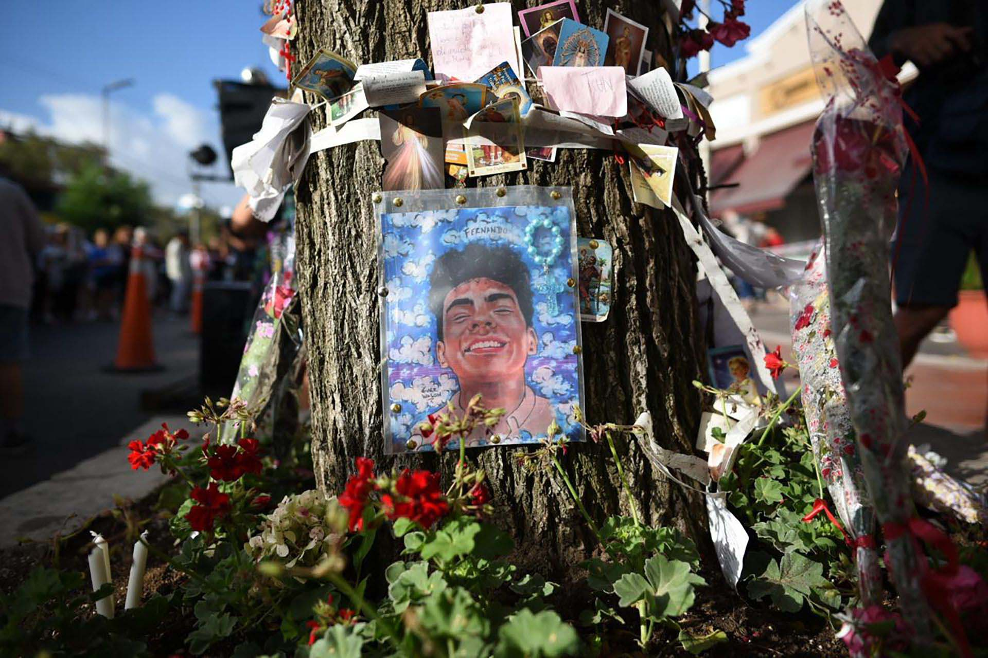 El santuario se sostiene en el árbol que vio caer a Fernando Báez Sosa herido de muerte por los golpes