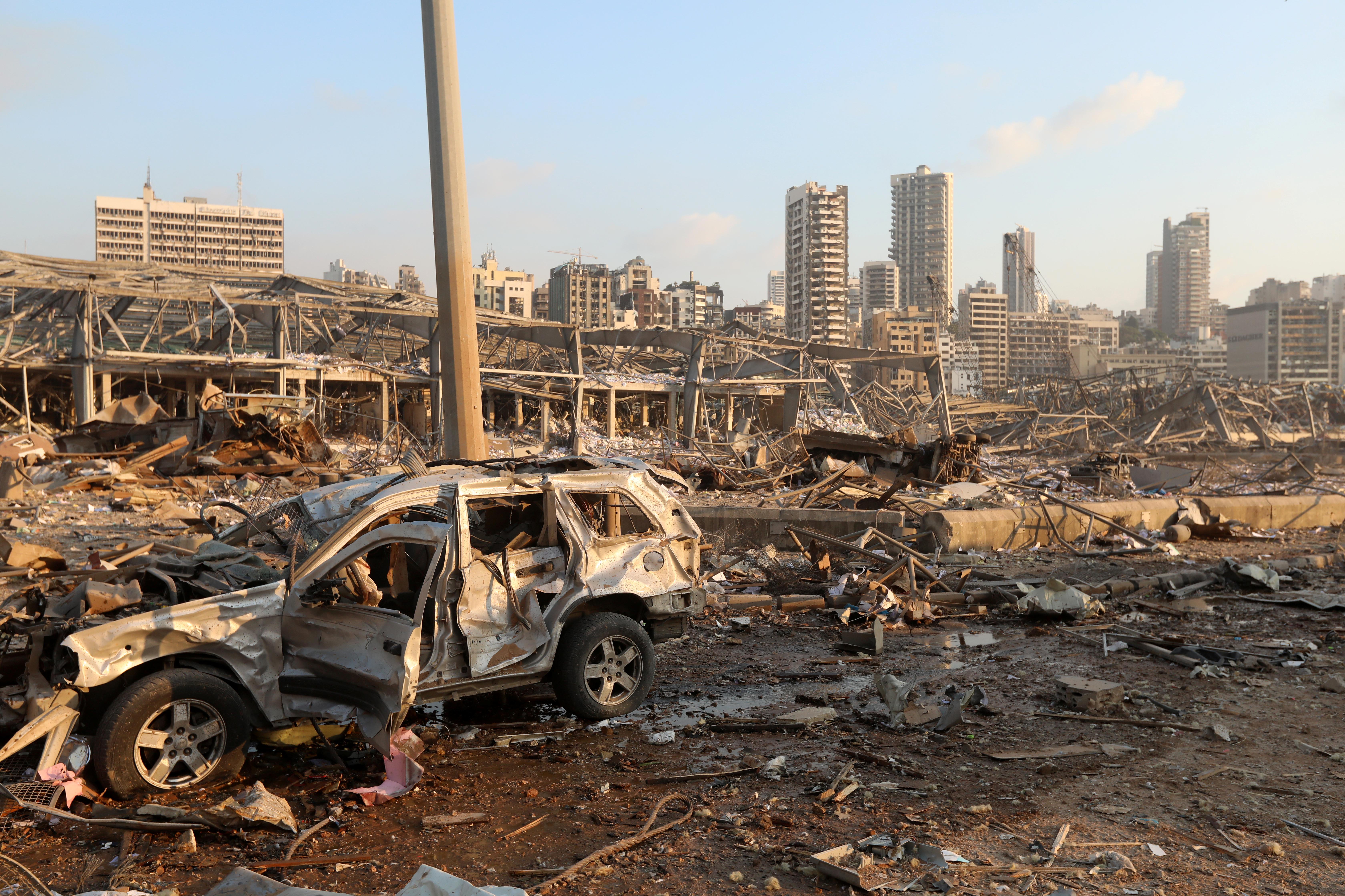 Así quedó la zona tras los estallidos (Reuters/ Mohamed Azakir)