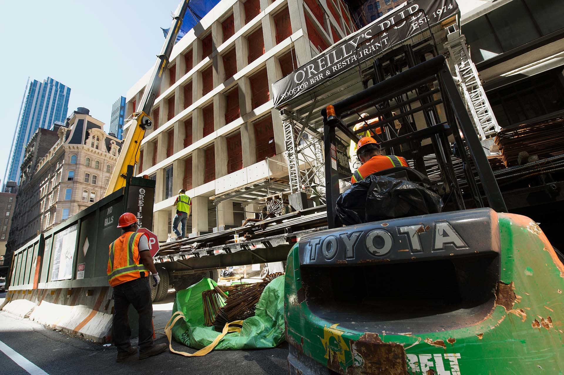 Las construcciones fueron autorizadas a retomarse desde este lunes en Nueva York.