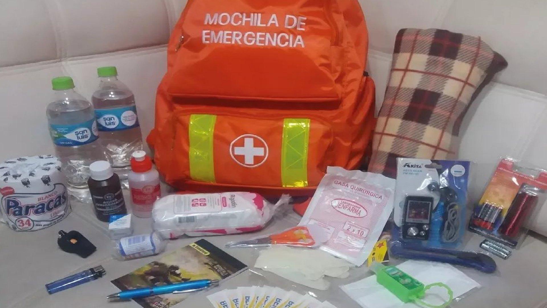 Cómo preparar su mochila de emergencia en caso de sismo