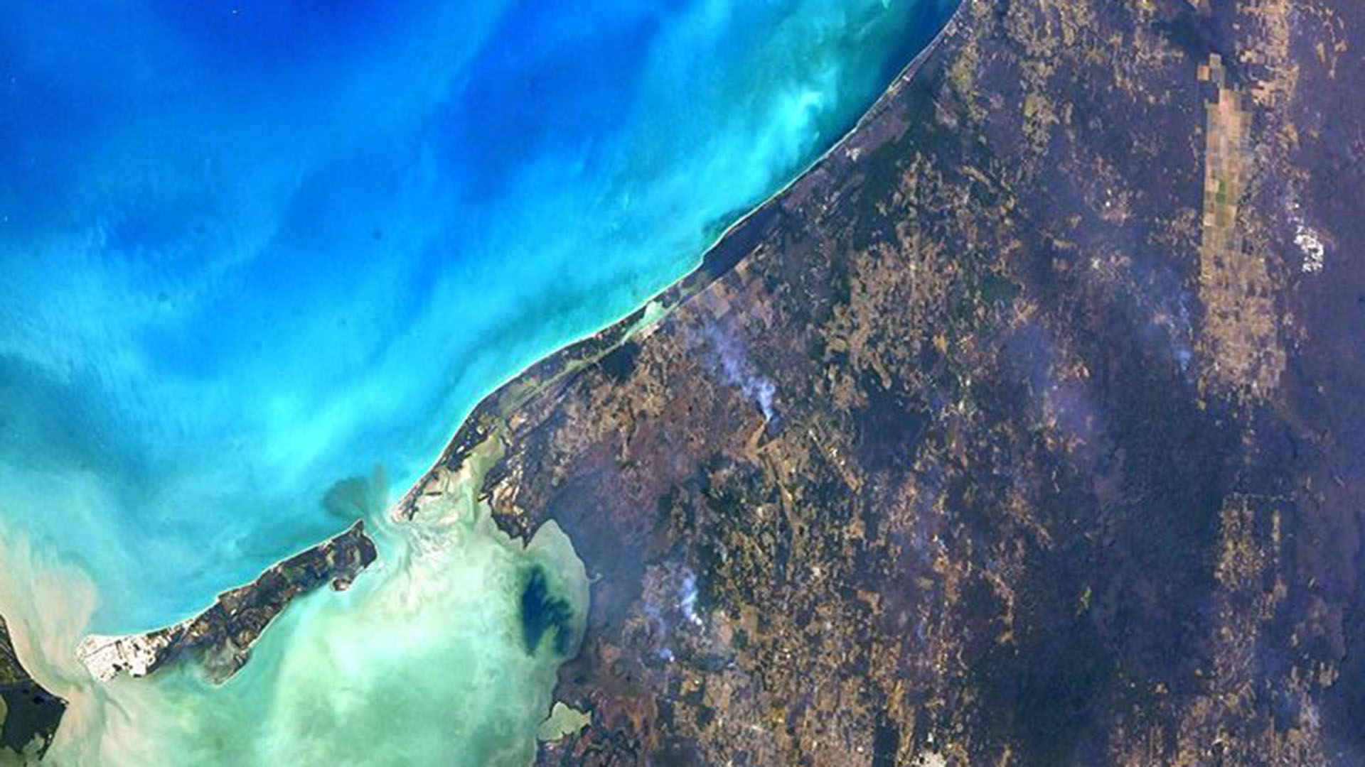 Imagen satelital del Golfo de México