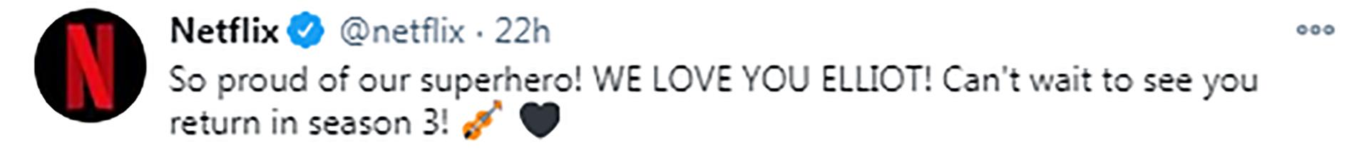 El mensaje de Netflix tras conocer el comunicado de Elliot Page