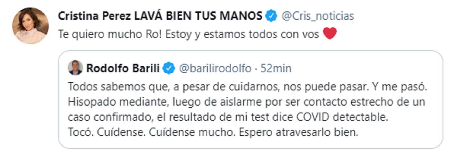 El mensaje de Cristina Pérez