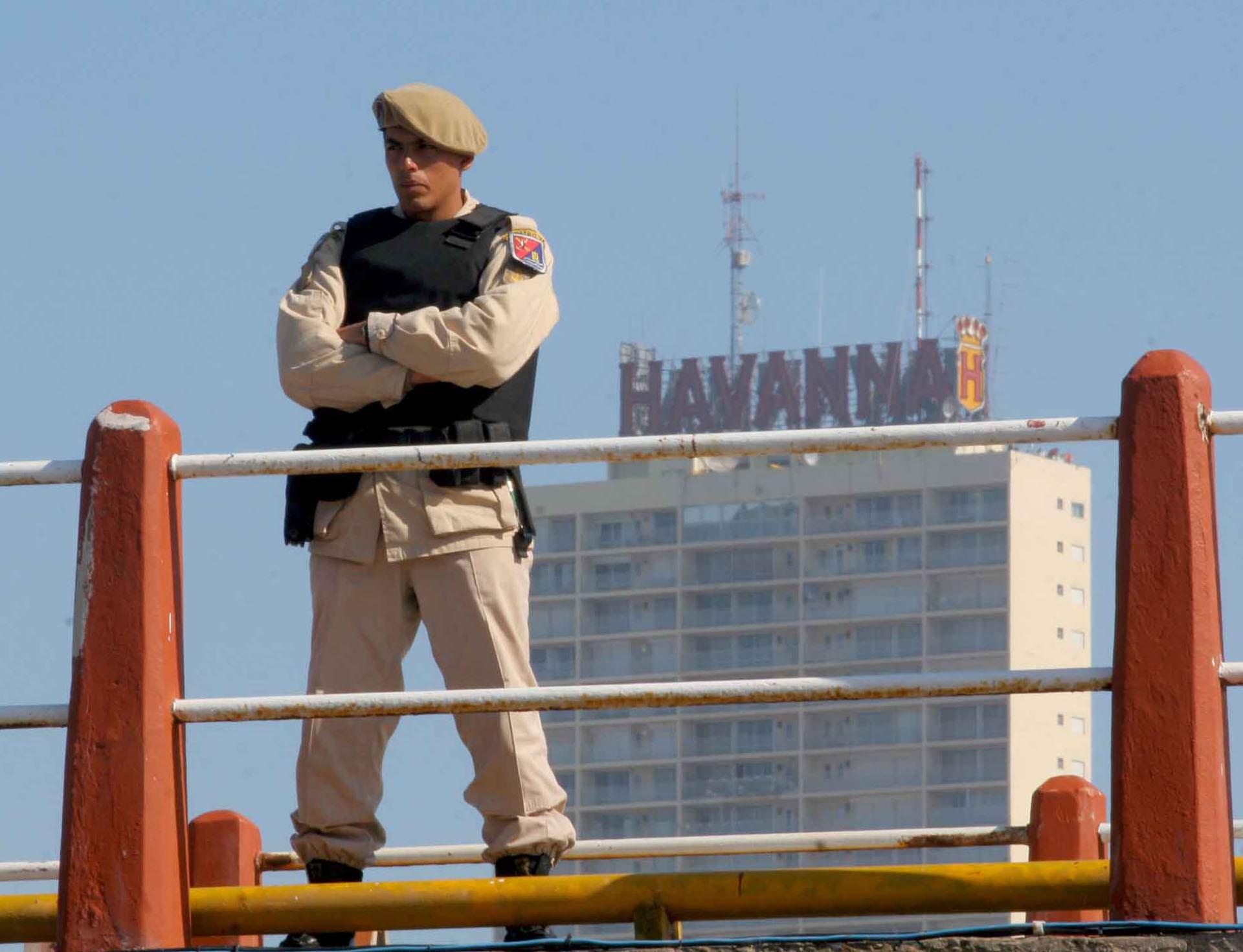 El Personal de Prefectura fue desplegado por una amplia zona del centro de la ciudad balnearia y los alrededores