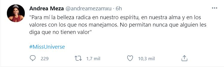 CAPTURA:Twitter/@andreamezamxu