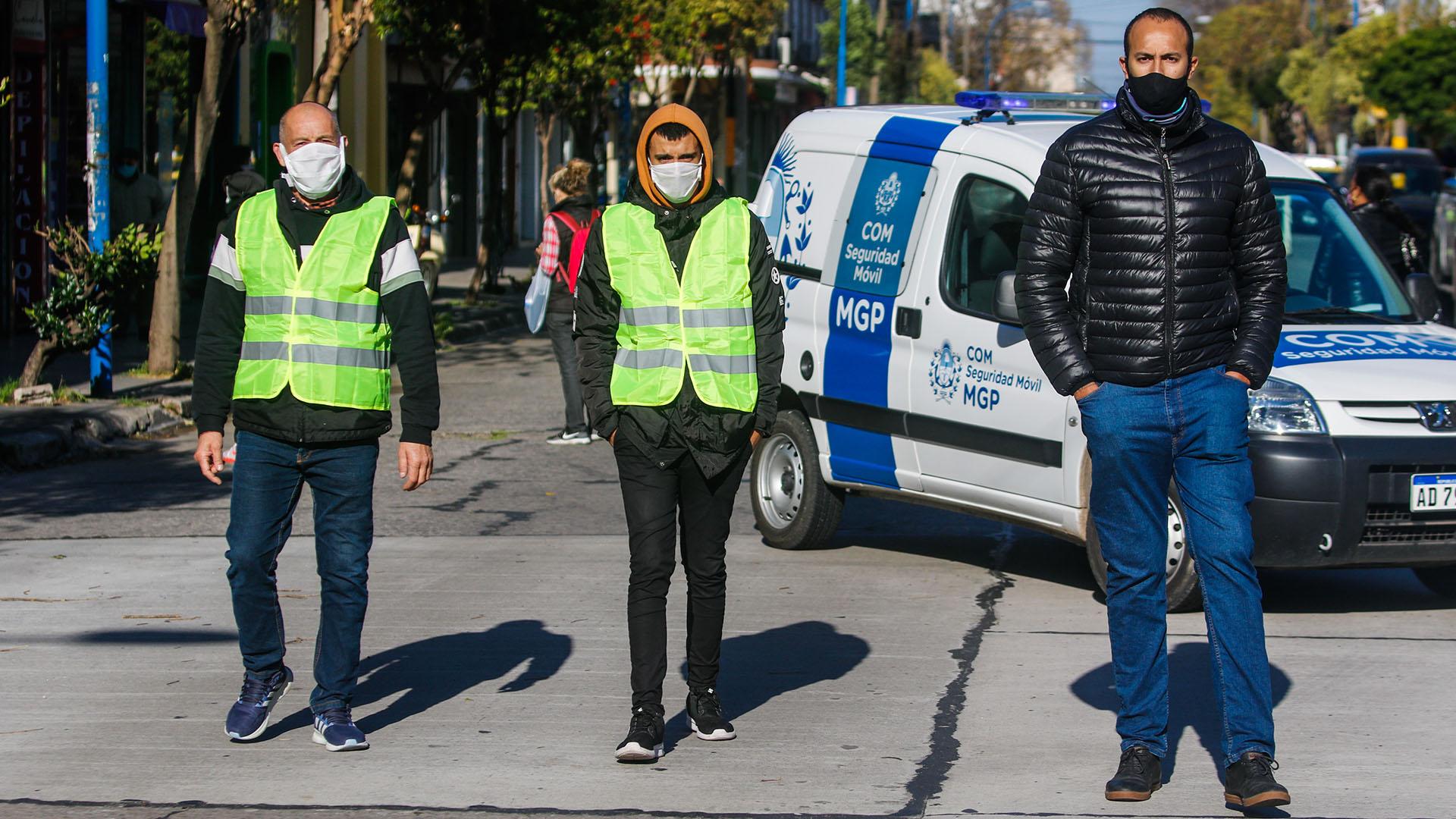 Hubo un control especial en las calles que se peatonalizaron, como Güemes y San Juan (Christian Heit)