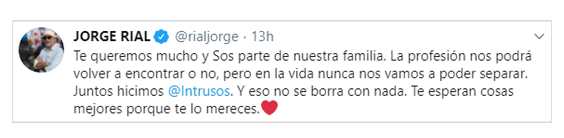 El mensaje de Jorge Rial para Daniel Ambrosino (Twitter)