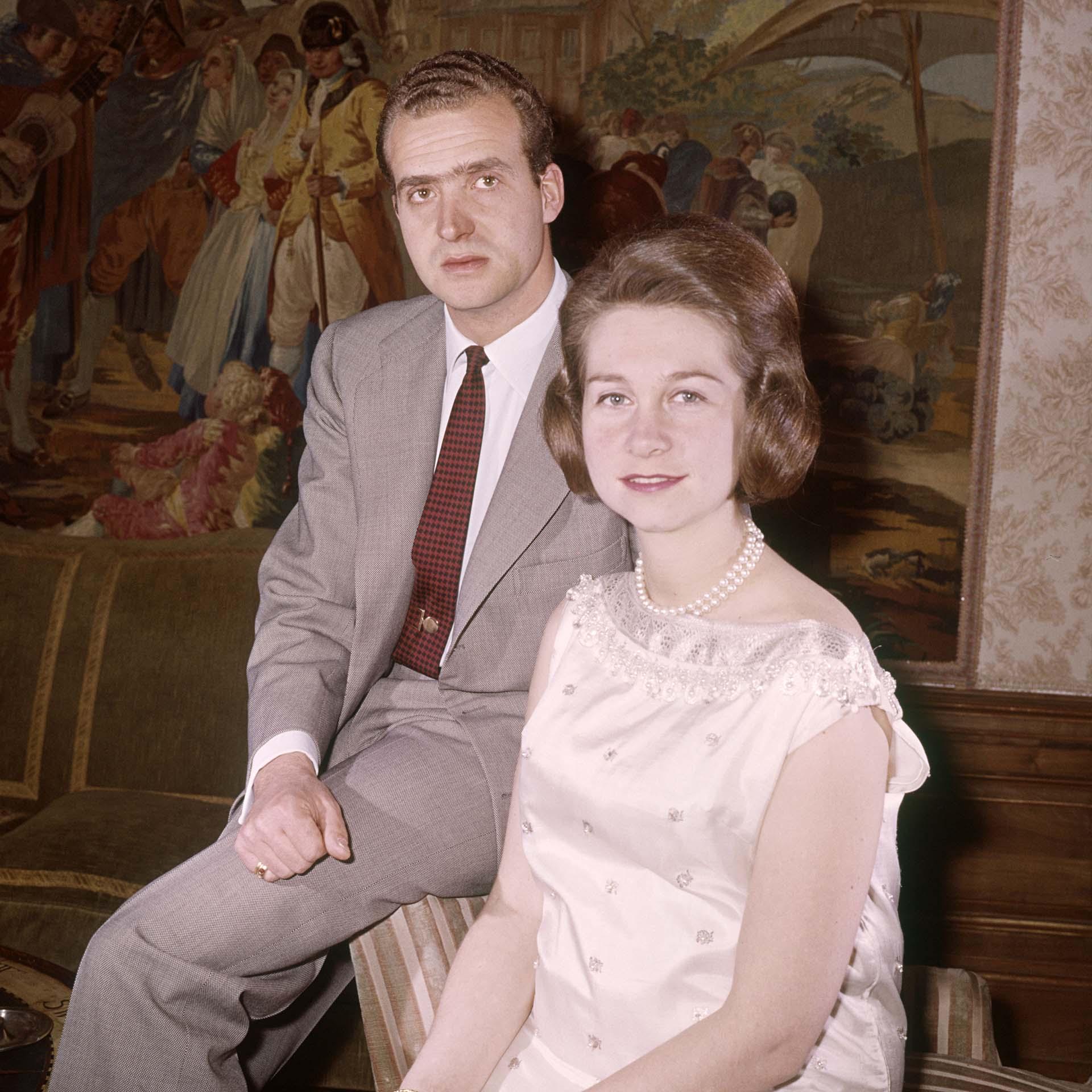 Juan Carlos y Sofía en el Palacio de la Zarzuela, Madrid en 1965 (Shutterstock)