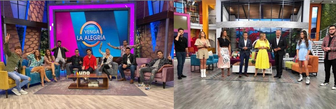 Ambos programas son los más vistos a nivel nacional en televisión pública (Foto: @programahoy, @vengalaalegriatva/Instagram)