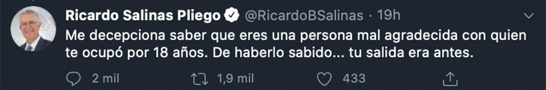 Twitts Salinas Pliego (Foto: Twitter@RicardoBSalinas)