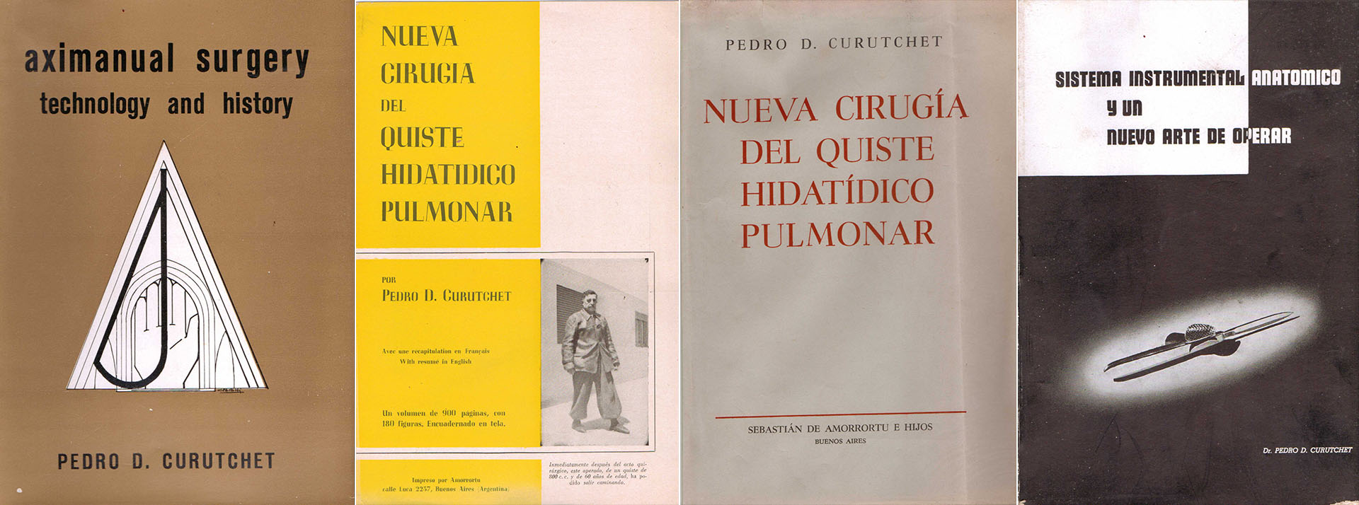 Diferentes libros publicados por Curutchet