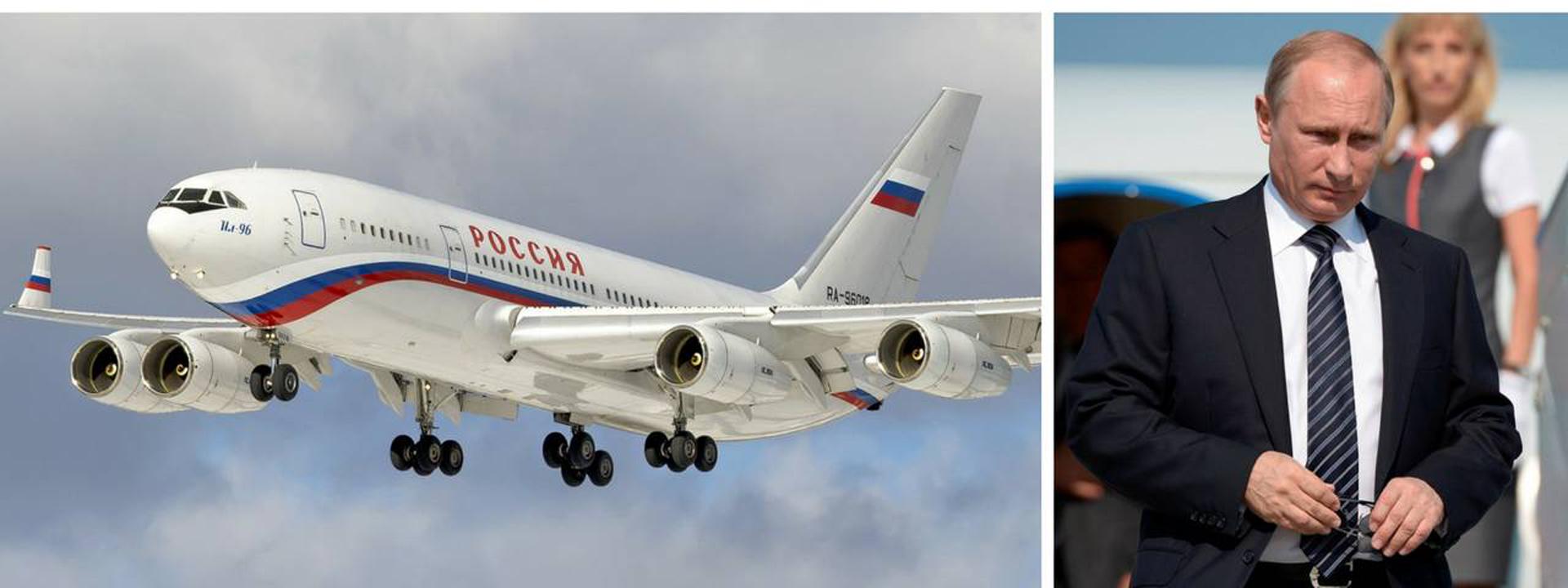 Putin, que ha estado en el poder desde 1999, ha utilizado ampliamente el Il-96 adaptado como transporte VIP.