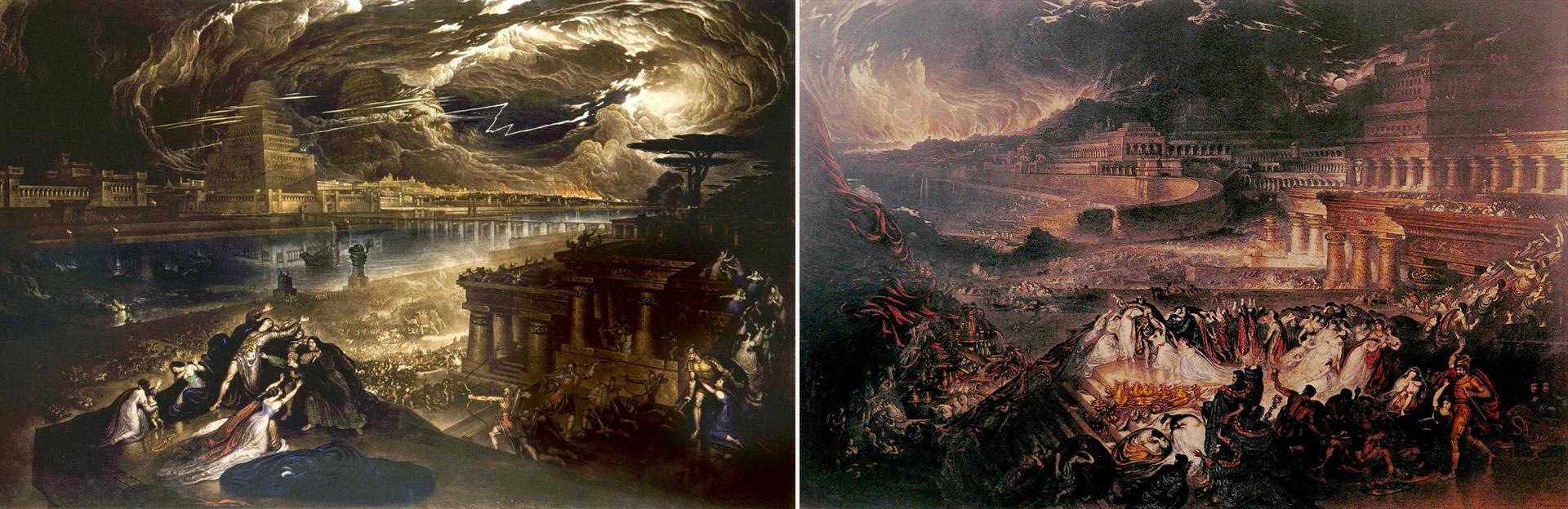 La caída de Babilonia (1819) y La caída de Nínive (1828)