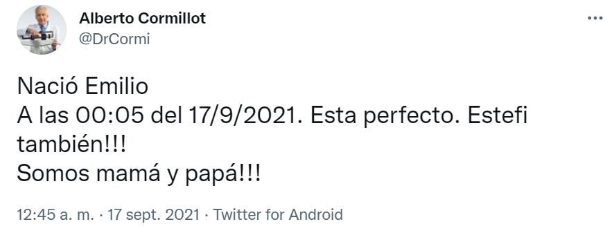 El anuncio del nacimiento de Emilio