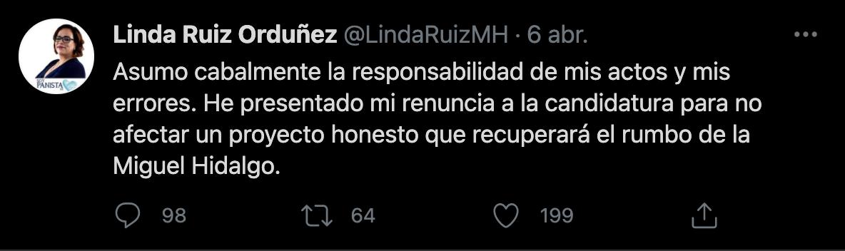 (Imagen: captura de pantalla Tw/@LindaRuizMH)