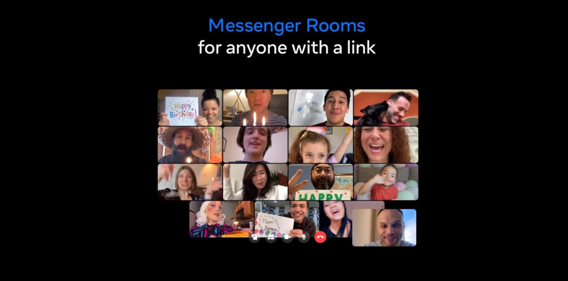 No hace falta tener cuenta en Facebook o Messenger para unirse a la sala de reunión.