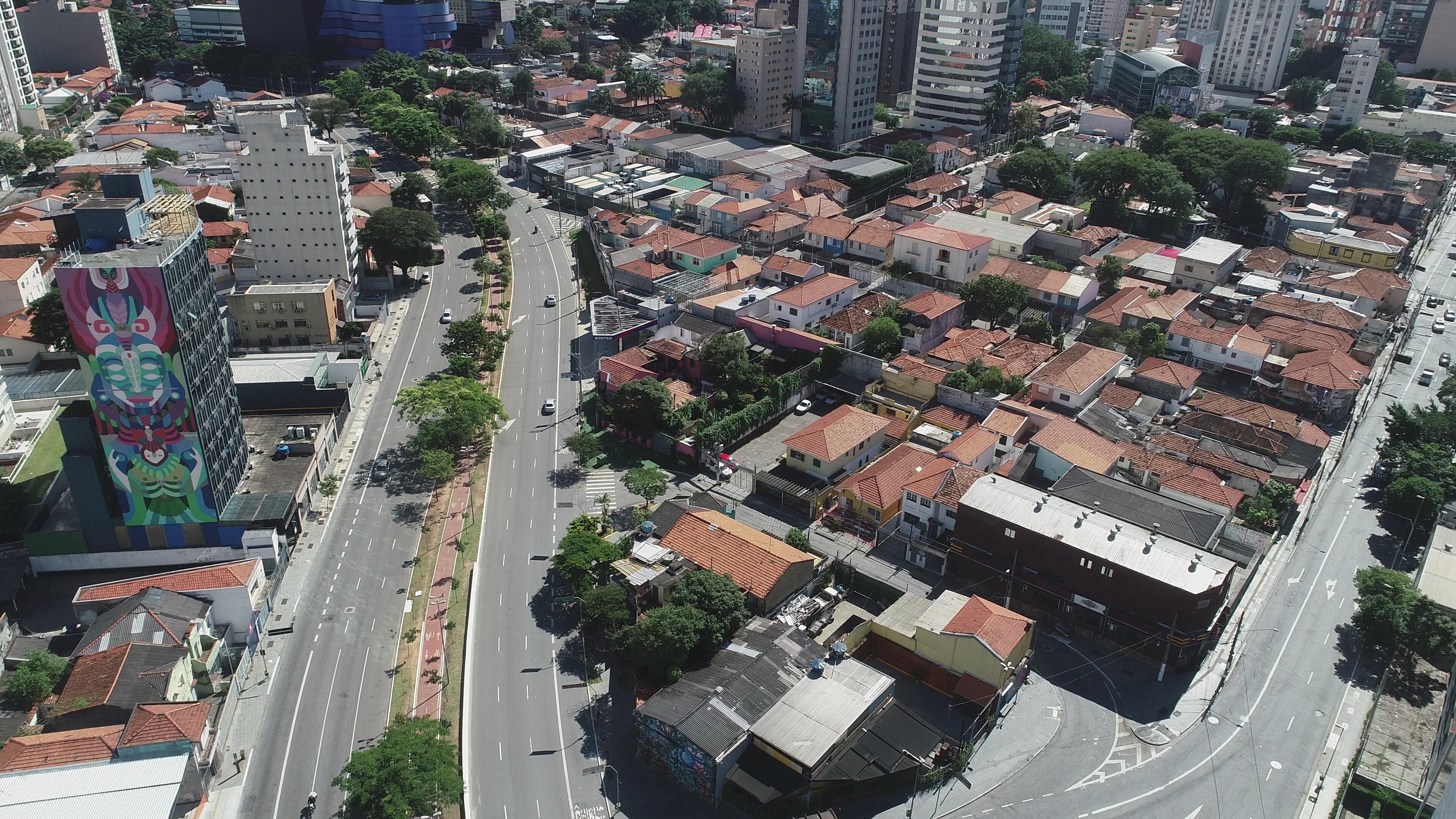 Imagen de drone del centro de San Pablo (REUTERS/Leonardo Benassatto)