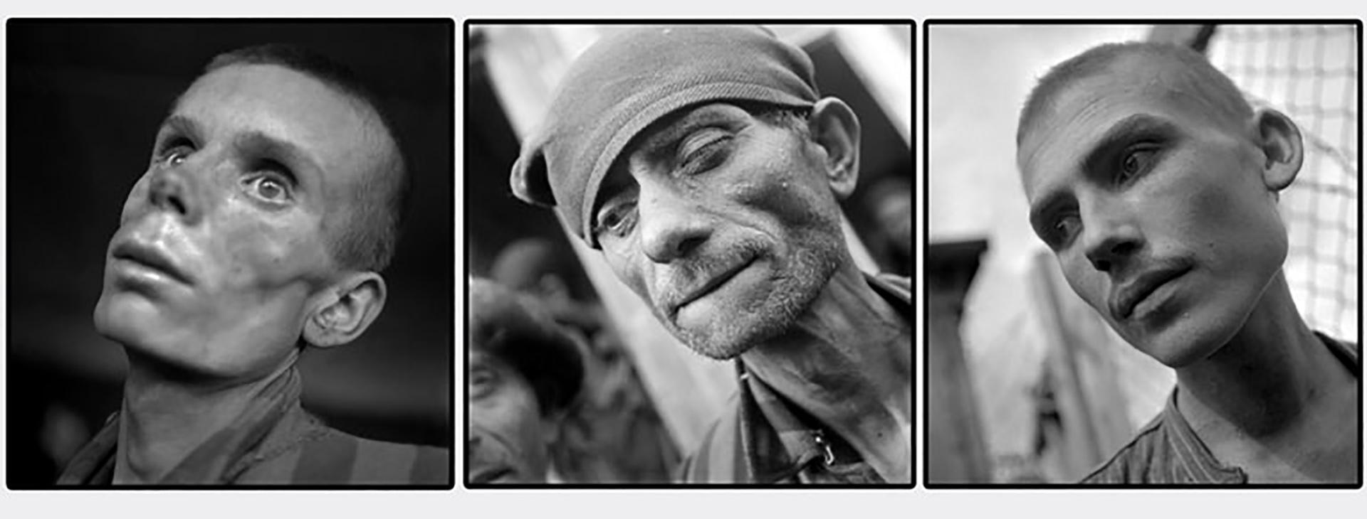 Los tremendos retratos de los prisioneros que sacó el fotógrafo Eric Schwab en Dachau en abril de 1945 (AFP/ Eric Schwab)