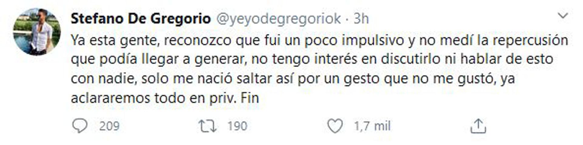 El actor publicó este mensaje después de borrar sus tuits anteriores (Foto: Twitter)