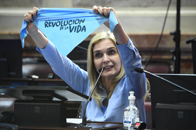 Silvia Elías de Pérez, senadora opositora a la legalización del aborto