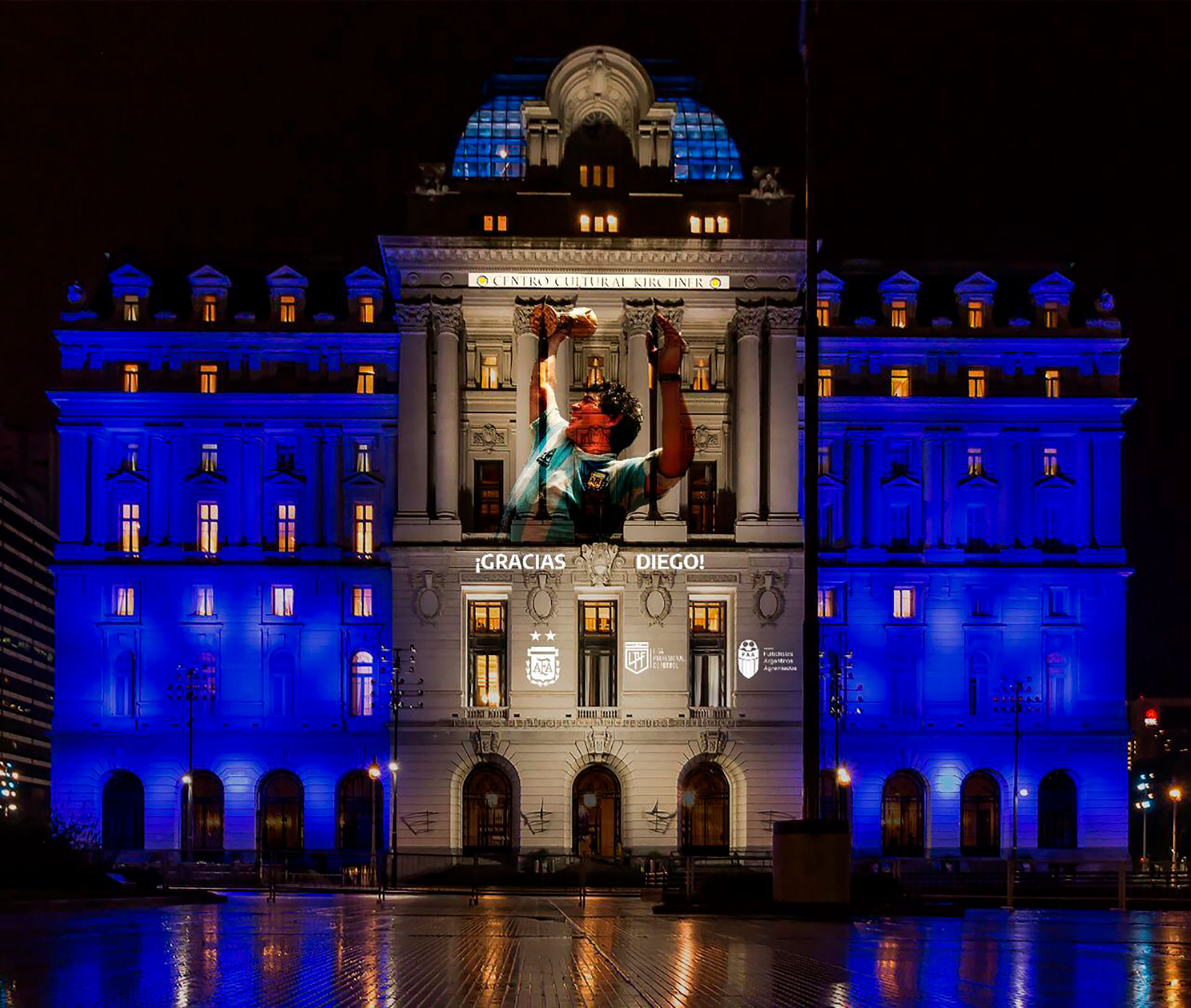 La Casa Rosada también homenajea al astro. Allí se llevará a cabo el velatorio