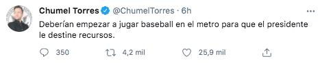 Chumel Torres también se unió a las críticas contra el gobierno por el accidente ocurrido en la alcaldía Tláhuac (Foto: Twitter@ChumelTorres)