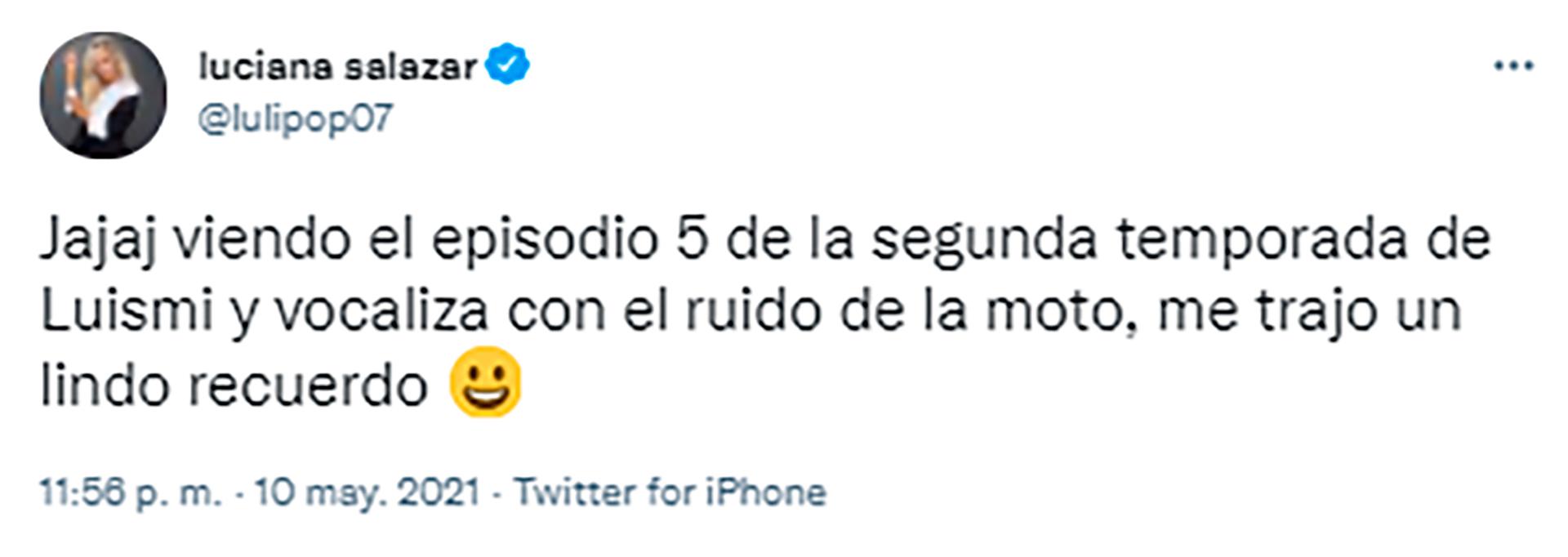 El tweet de Luciana Salazar sobre la serie de Luis Miguel