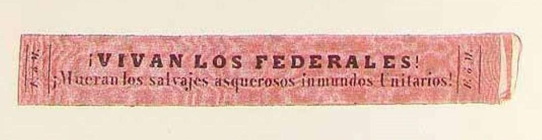 El cintillo punzó fue de uso obligatorio durante el gobierno rosista.