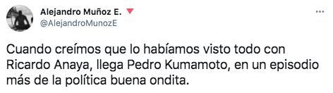 Los internautas subrayaron la similitud entre la comunicación de Ricardo Anaya y Pedro Kumamoto (Foto: Twitter/@AlejandroMunozE)
