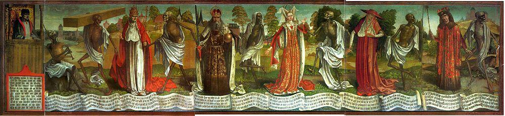 Surmatantes de la Iglesia de San Nicolás, Tallin, finales del siglo XV. Hoy en el Museo de Arte de Estonia