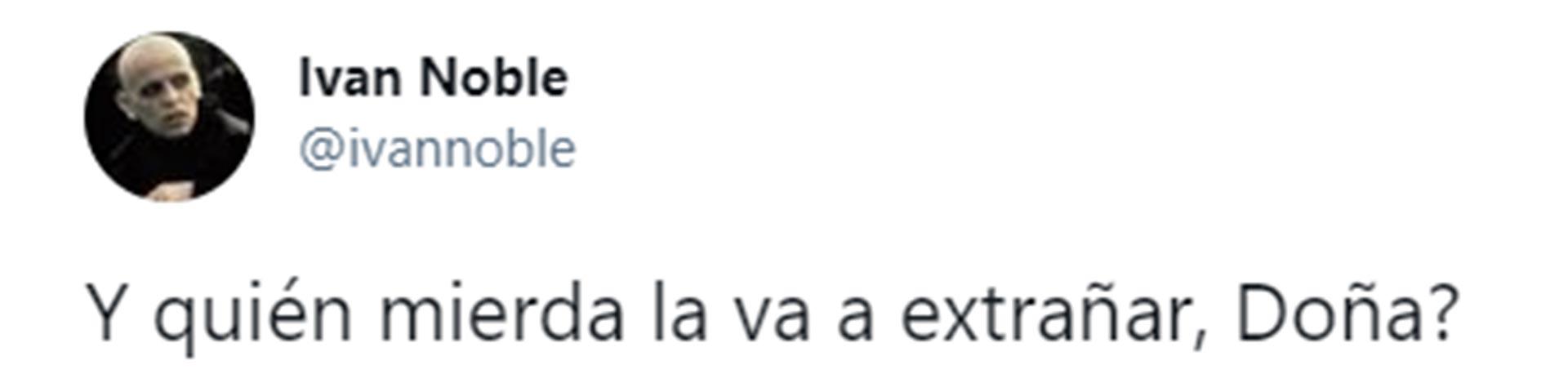 El mensaje de Iván Noble contra Susana Giménez