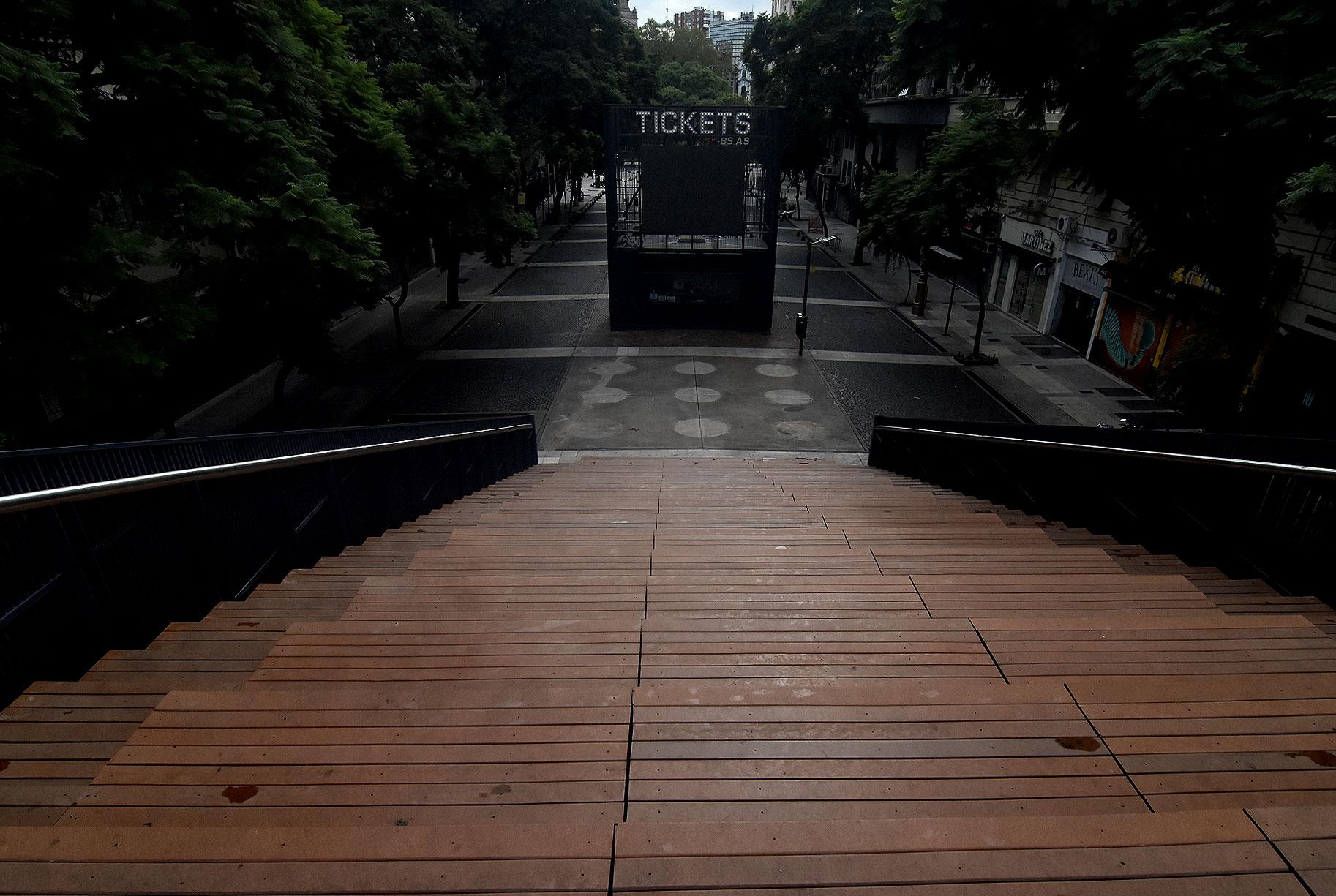 Las escalinatas del Obelisco