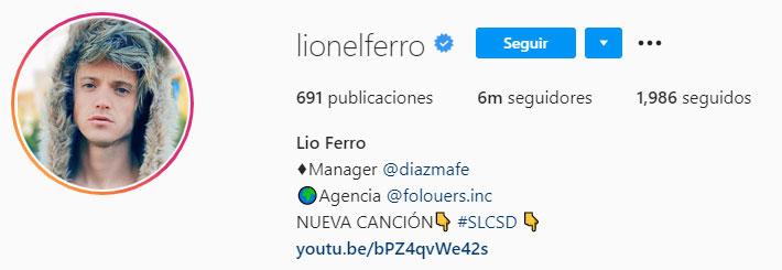 Lioinel Ferro (Foto: Instagram)