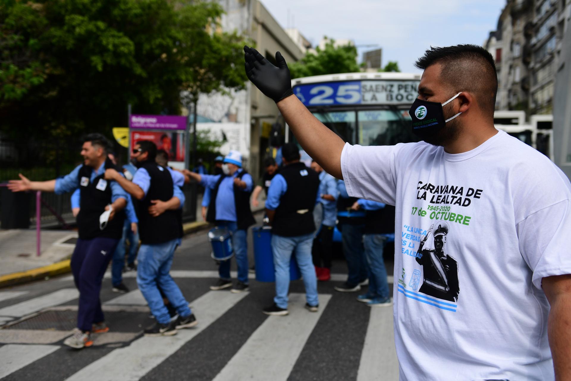 Con merchandising propio: muchos de los manifestantes lucieron remeras acordes a la ocasión, con la imagen de Juan Domingo Perón estampada en el pecho