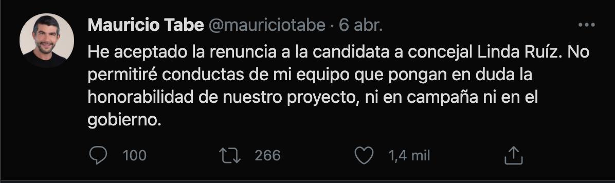 (Imagen: captura de pantalla Tw/@mauriciotabe)