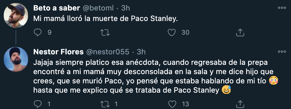 Usuarios de Twitter recordaron el momento en que se enteraron del asesinato de Paco Stanley (Foto: Twitter)