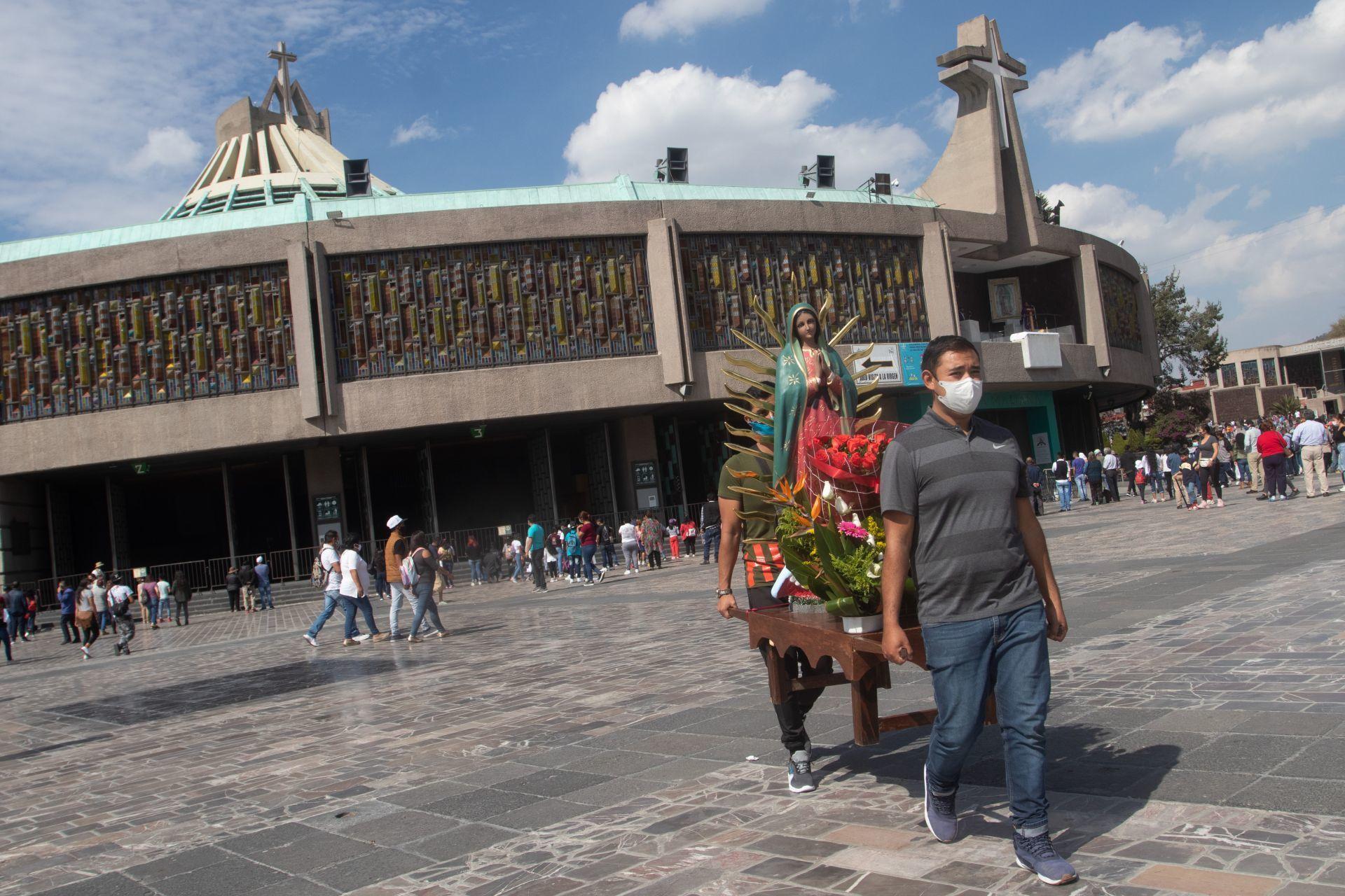 Basílica de Guadalupe. Ciudad de México, 6 de diciembre de 2020.