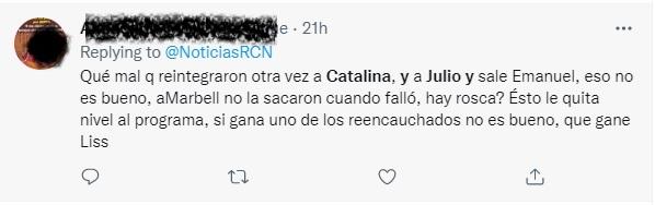 Reacciones en redes a MasterChef Celebrity Colombia 2021. Foto: Twitter
