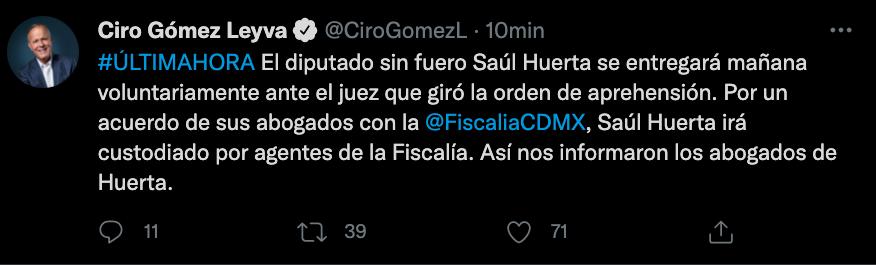 Ciro Gómez Leyva (Foto: Twitter@CiroGomezL)